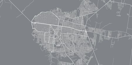 Urban vector city map of Corrientes, Argentina
