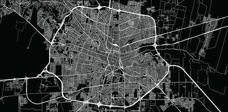 Urban vector city map of Cordoba, Argentina Illustration