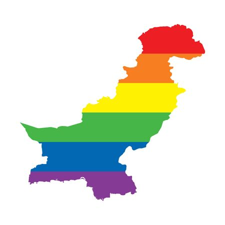 Pakistan LGBTQ gay pride flag map