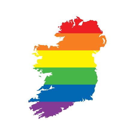 Ireland LGBTQ gay pride flag map