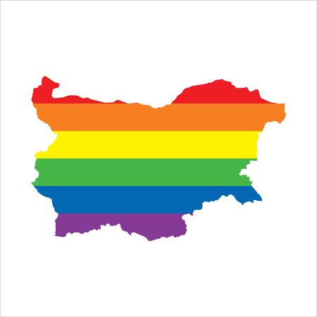 Bulgaria LGBTQ gay pride flag map