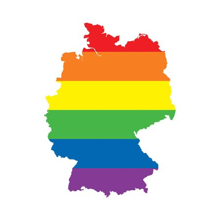 Germany LGBTQ gay pride flag map Reklamní fotografie - 138197005