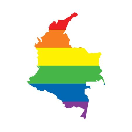 Colombia LGBTQ gay pride flag map