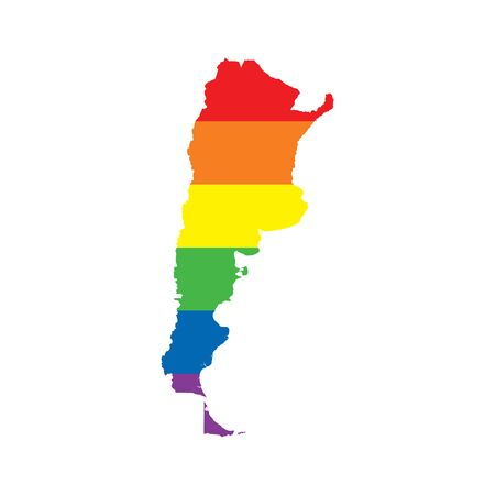 Argentina LGBTQ gay pride flag map