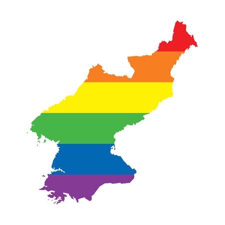 North Korea LGBTQ pride flag map