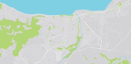 Urban vector city map of san carlos de bariloche, Argentina