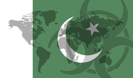 Pakistan flag global disease outbreak concept
