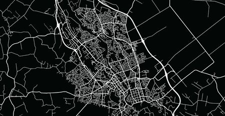 Urban vector city map of Hamilton, New Zealand