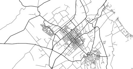 Urban vector city map of Hastings, New Zealand