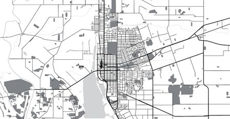 Urban vector city map of Invercargill, New Zealand