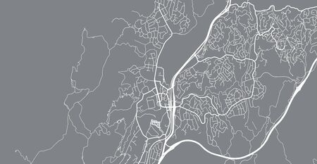 Urban vector city map of Porirua, New Zealand
