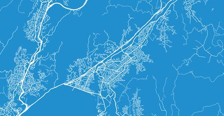 Urban vector city map of Lower Hutt, New Zealand