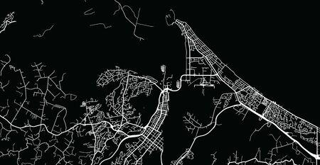 Urban vector city map of Tauranga, New Zealand
