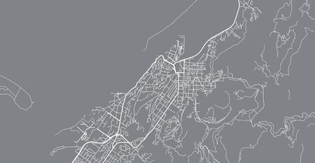 Urban vector city map of Nelson, New Zealand