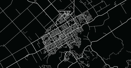 Urban vector city map of Palmerston North, New Zealand
