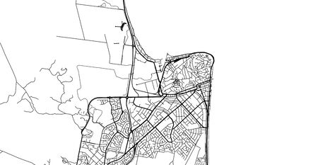 Urban vector city map of Napier, New Zealand