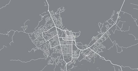Urban vector city map of Rotorua, New Zealand