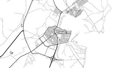 Urban vector city map of Al Khor, Qatar Stock Illustratie