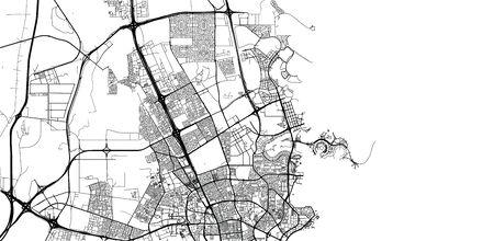 Urban vector city map of Umm Salal Muhammad, Qatar