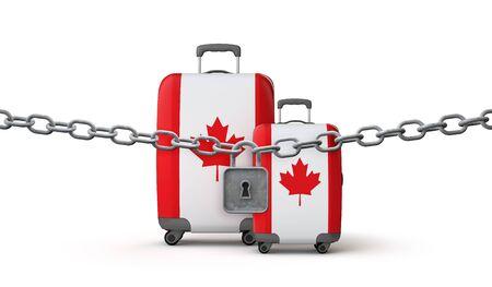Canada lockdown travel restrictions concept. 3D Render