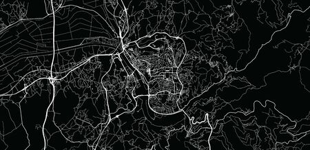 Urban vector city map of Coimbra, Portugal