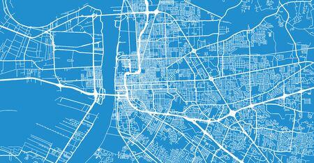Urban vector city map of Baton Rouge, USA. Louisiana state capital