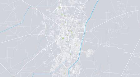 Urban vector city map of Gurjranwala, Pakistan