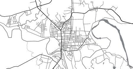 Urban vector city map of Kon Tum, Vietnam