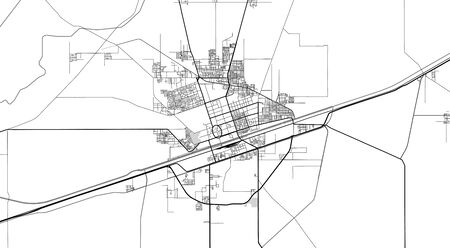 Urban vector city map of Sahiwal, Pakistan, Asia. Ilustração