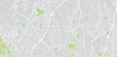 Urban vector city map of Randburg, South Africa Illustration