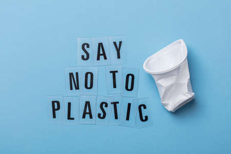 Say no to plastic message with a single use cup.
