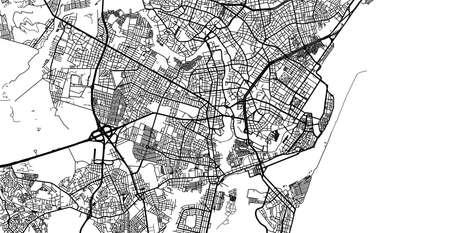 Urban vector city map of Recife, Brazil.