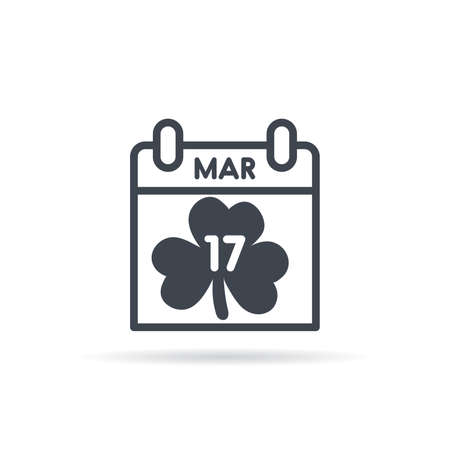 St Patrick's Day calendar. March 17th vector illustration.