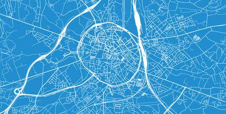 Urban vector city map of Leuven, Belgium.