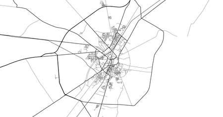 Urban city map of Larkana, Pakistan, Asia Banco de Imagens - 154126070