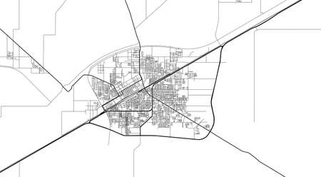 Urban city map of Okara, Pakistan, Asia Banco de Imagens - 154126075