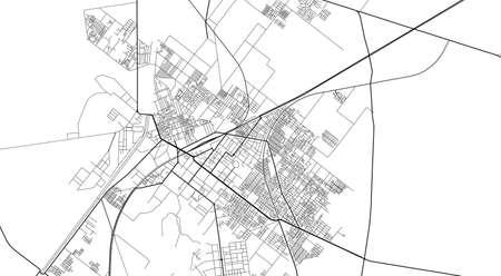 Urban  city map of Sargodha, Pakistan, Asia Ilustração