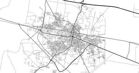 Urban city map of Sheikhupura, Pakistan, Asia Banco de Imagens - 154126221