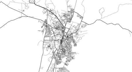 Urban city map of Quetta, Pakistan, Asia Banco de Imagens - 154126230
