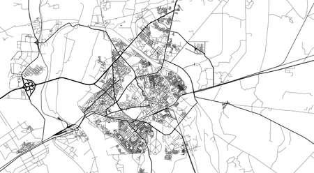 Urban city map of Hyderabad, Pakistan, Asia Banco de Imagens - 154126293