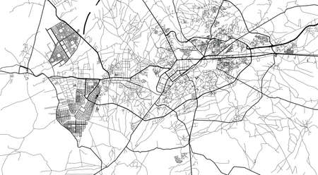 Urban city map of Peshawar, Pakistan, Asia Banco de Imagens - 154126295