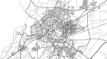 Urban city map of Multan, Pakistan, Asia Banco de Imagens - 154126299