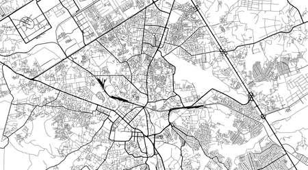 Urban city map of Rawalpindi, Pakistan, Asia Banco de Imagens - 154126304