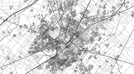 Urban city map of Faisalabad, Pakistan, Asia Banco de Imagens - 154126315