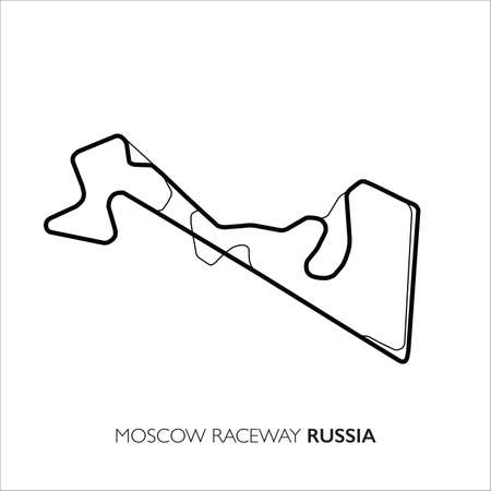 Moscow circuit, Russia. Motorsport race track vector map