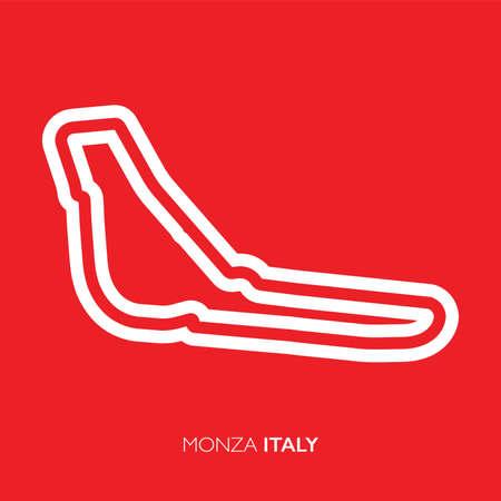 Monza circuit, Italy. Motorsport race track vector map