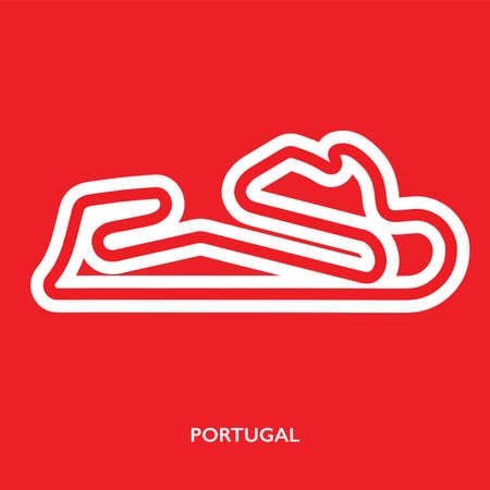 Portugal circuit. Motorsport race track vector map