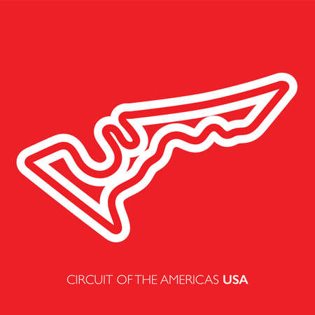 Circuit of the Americas, USA. Motorsport race track vector map