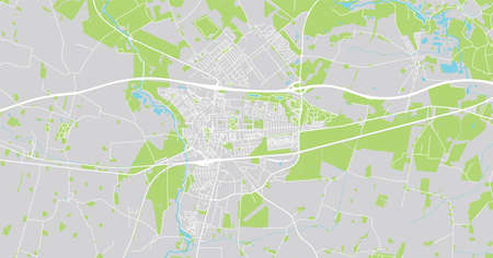 Urban vector city map of Ringstead, Denmark