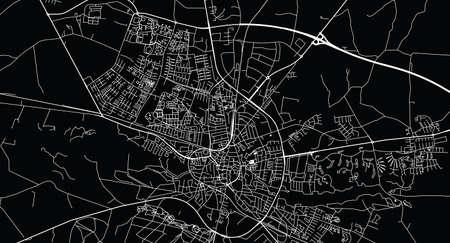Urban vector city map of Holstebro, Denmark